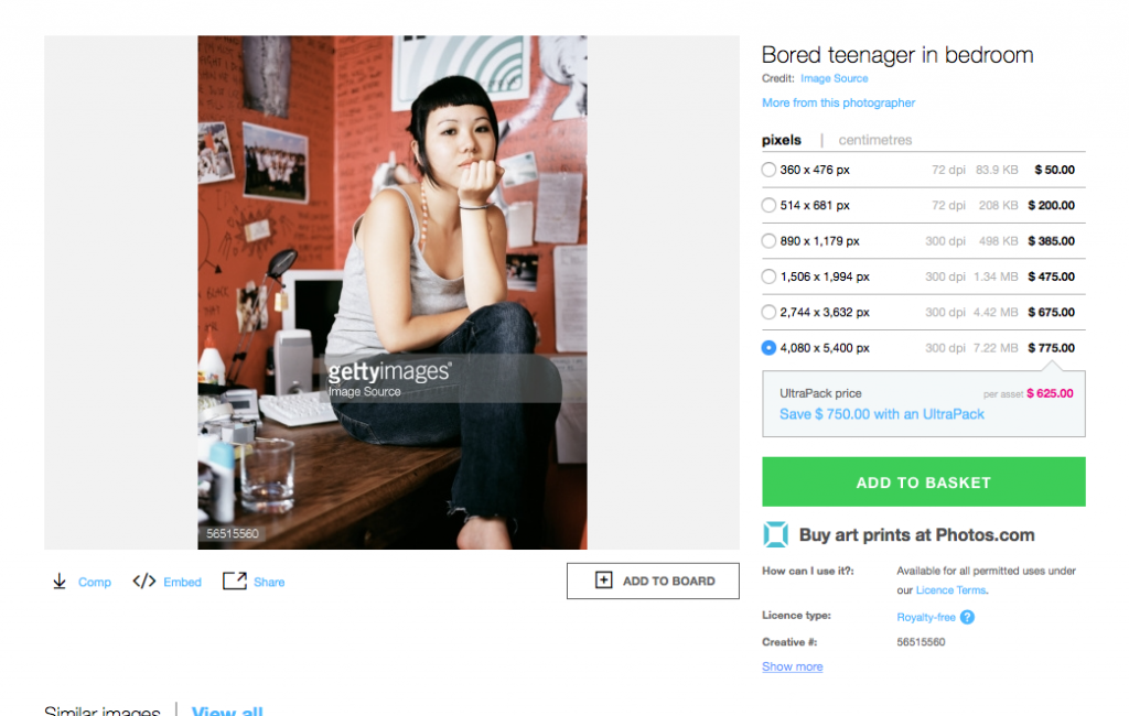 All images have been sourced from online photo libraries — this particular one is titled 'bored teenager in bedroom'